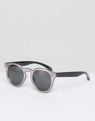 Monki Color Block Cat Eye Sunglasses