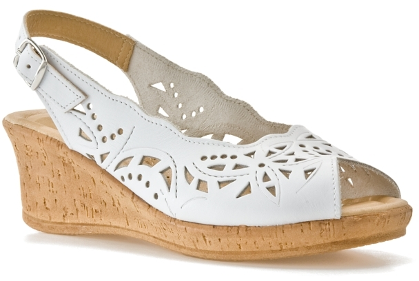 Spring Step Emmaline Wedge Sandal - White