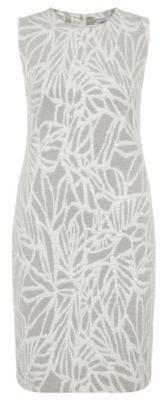 Hugo Boss Epalla Cotton Jacquard Shift Dress L Patterned $325 thestylecure.com