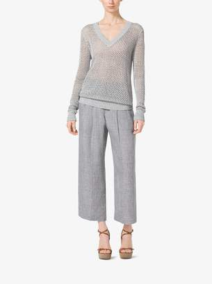 Michael Kors Mesh-Linen Sweater