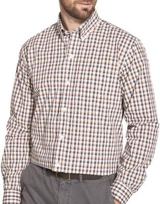 Arrow Men's Big and Tall Long Sleeve Hamilton Poplin Button Down Shirt