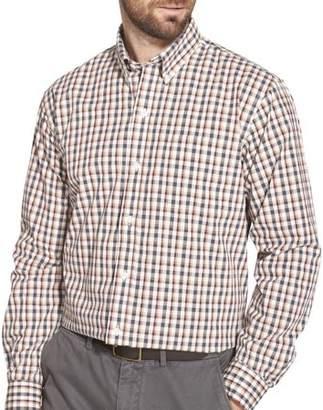 Arrow Men's Big and Tall Long Sleeve Hamilton Poplin Button Down Shirt