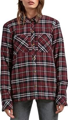 Volcom Plaid About You Plaid Flannel Shaket