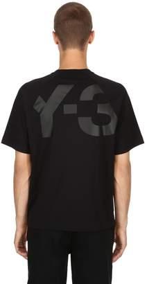 Y-3 Back Logo Cotton Jersey T-Shirt