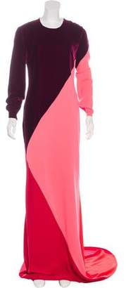 Stella McCartney Colorblock Evening Dress
