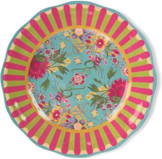 Mackenzie Childs Florabundance Melamine Dinner Plates, Set of 4