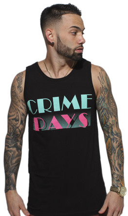 South Beach 8&9 Clothing Crime Pays Tank Top
