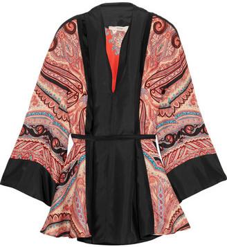 Etro - Paisley-print Silk-satin Blouse - Orange $900 thestylecure.com
