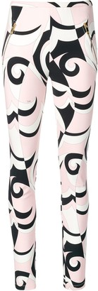 Emilio Pucci Fortuna Print Zipped Pocket Leggings