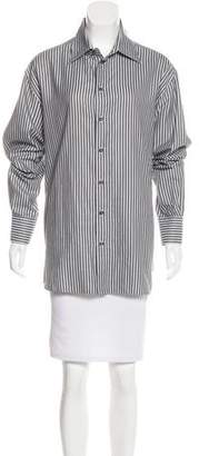 Armani Collezioni Long Sleeve Striped Top