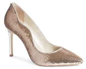 Karen Millen Sequin High-Heel Court Pumps