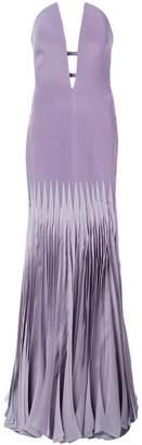Rubin Singer strapless deep-v gown