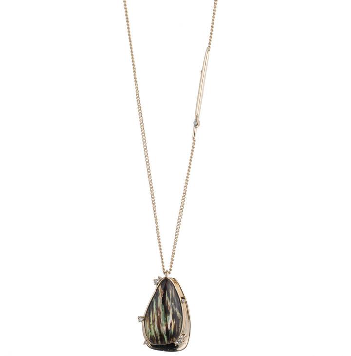 Alexis BittarWood Grain Pendant Necklace