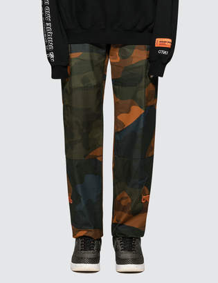 Heron Preston Ctnmb Orange Camo Cargo Pants