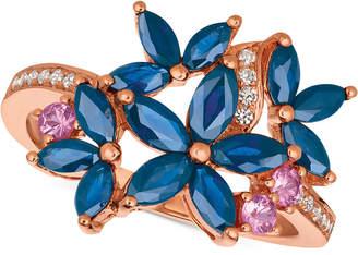 LeVian Le Vian Multi-Sapphire (1-9/10 ct. t.w.) & Diamond (1/10 ct. t.w.) Ring in 14k Rose Gold