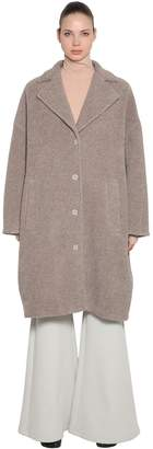 MM6 MAISON MARGIELA Oversized Wool Terrycloth Long Coat