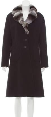 J. Mendel Fur-Trimmed Long Coat
