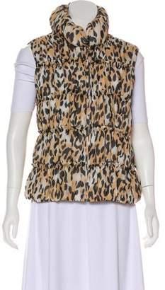 St. John Silk Animal Print Vest