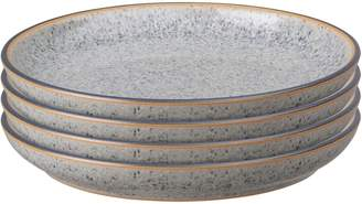 Denby Studio Grey Stoneware 4-Piece Coupe Tea Plate Set