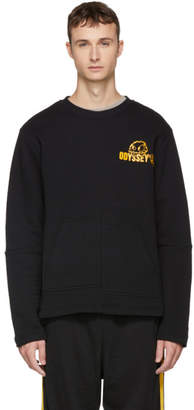 McQ Black and Yellow Rave Monster Kimono Sweatshirt