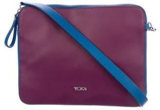 Tumi Textured Coated Canvas Crossbody Bag purple Textured Coated Canvas Crossbody Bag