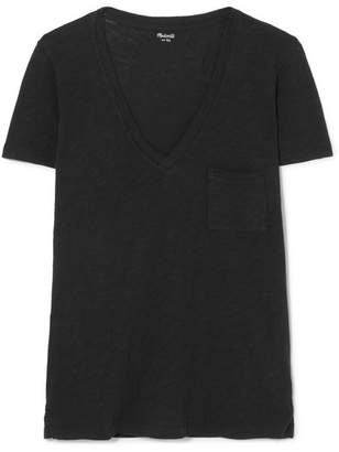 Madewell Whisper Slub Cotton-jersey T-shirt - Black