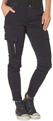 Silver Jeans Mid-Rise Skinny Cargo Jeans