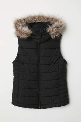 H&M Padded Vest with Hood - Black