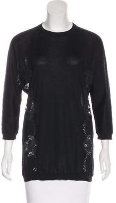 Dolce & Gabbana Lace-Accented Knit Sweater