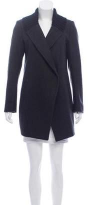 Theory Leather-Trim Wool Jacket