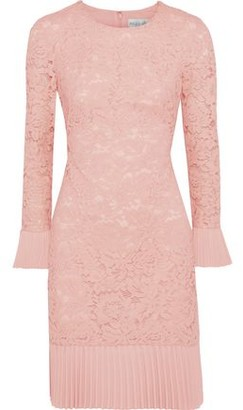 Mikael Aghal Plisse-trimmed Corded Lace Dress