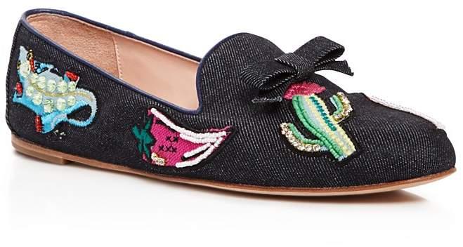 Kate Spadekate spade new york Saville Embroidered Denim Loafers