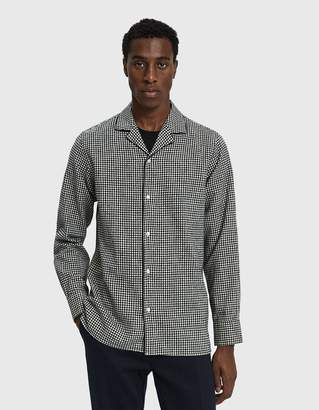 Officine Generale Dario Gingham Button Up Shirt