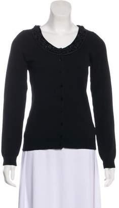 Blumarine Wool-Blend Long Sleeve Cardigan
