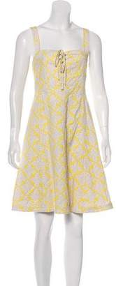 Diane von Furstenberg Luxe Sleeveless Knee-Length Dress