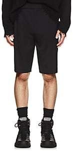 Helmut Lang Men's Logo-Waist Wool Twill Shorts - Black