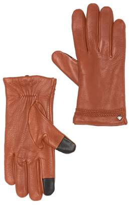 8b4120fd3a9e Cole Haan Deerskin Leather Twisted Wool   Cashmere Lined Gloves