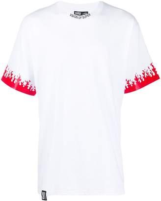 Vision Of Super flames print detail T-shirt