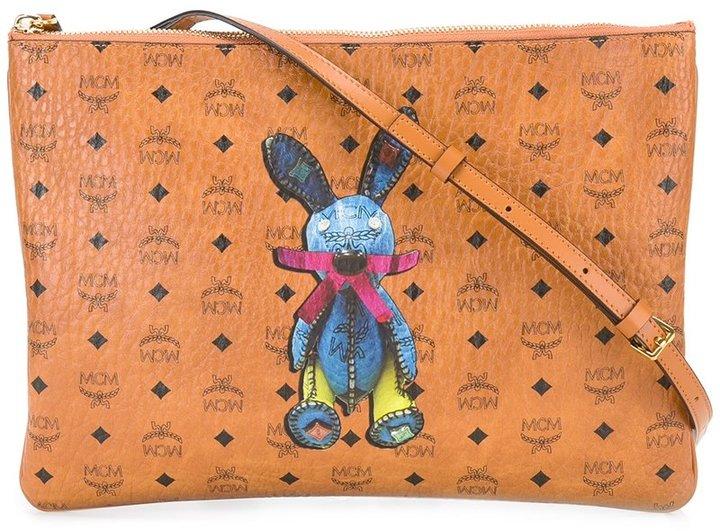 MCMMCM rabbit patch cross body bag