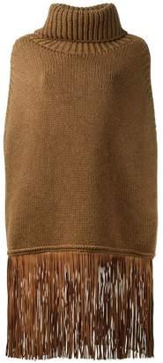 Agnona cashmere fringed jumper