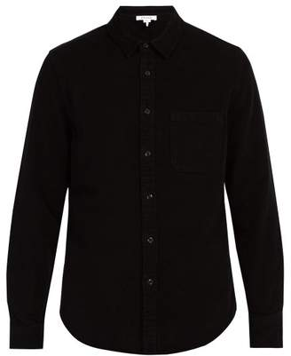 Frame Long Sleeved Single Pocket Shirt - Mens - Black