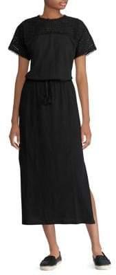 Lauren Ralph Lauren Lace-Sleeve Midi Dress