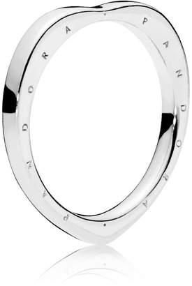 Pandora Logo Heart Ring