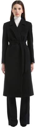 Tagliatore Belted Wool & Cashmere Long Coat