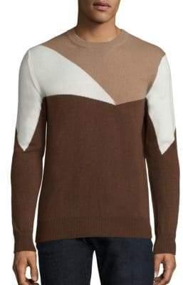 Eleventy Geometric Pure Cashmere Crewneck Sweater