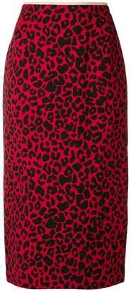 No.21 leopard print pencil skirt