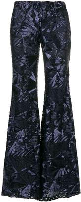 P.A.R.O.S.H. sequin embellished flared trousers