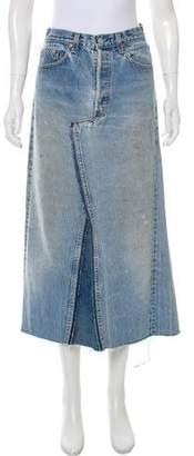 JET Distressed Denim Skirt