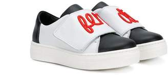 Fendi logo embroidered sneakers