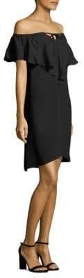 Lani Off-The-Shoulder Silk Dress